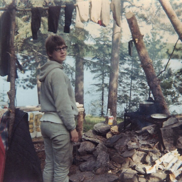Kathleen at our camp near Dorothy in 1969
