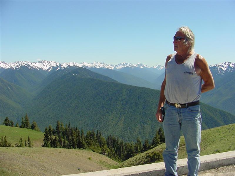 Bill enjoying the view from Huricane Ridge