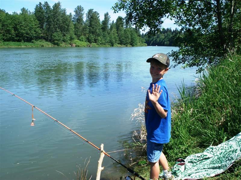 Zak happy to be fishing