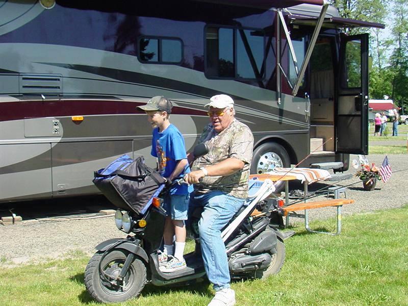 Grandpa and Zak ready to go