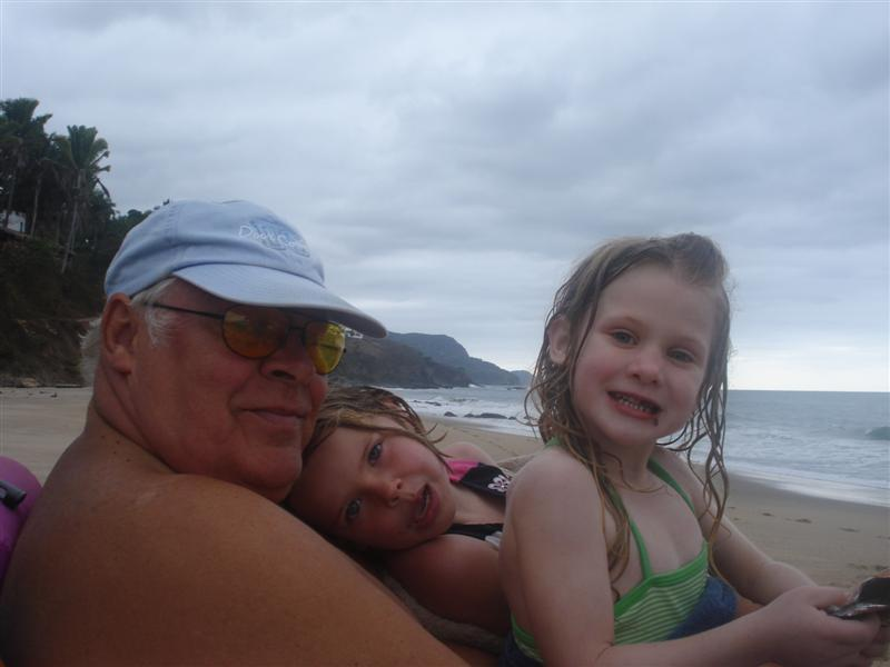Ellie and Maddie with grandpa