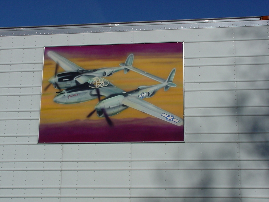 Painting of P-38
