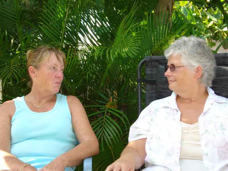 Kathleen and Jean Visiting