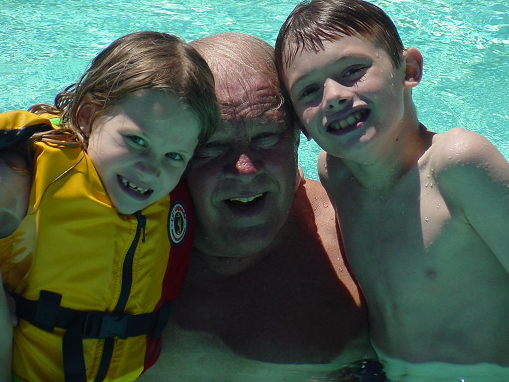 Maddie, Grandpa and Mason