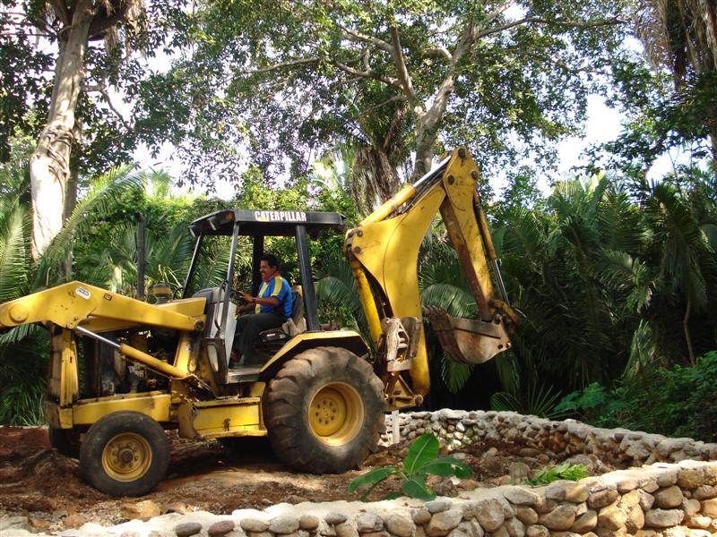 backhoe working