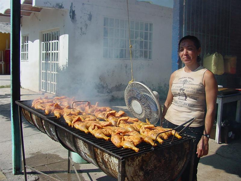 pollo street vendor